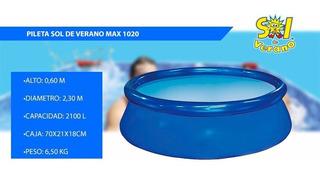 Pileta Max 1020 Redonda 240x060 Sol De Verano