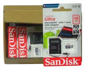 Kit*5*cartão Memoria*16gb San Disk Clase*10 Ultra*original