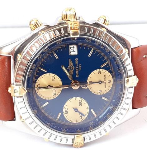 Breitling Chronomat Aço E Ouro 18k Automático - Azul - 12xsj