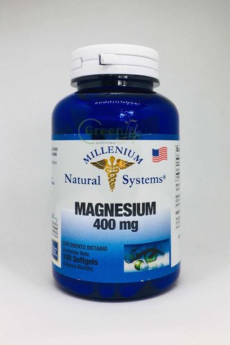 Magnesio 400mg X100 Softgels Magnesium Natural Systems