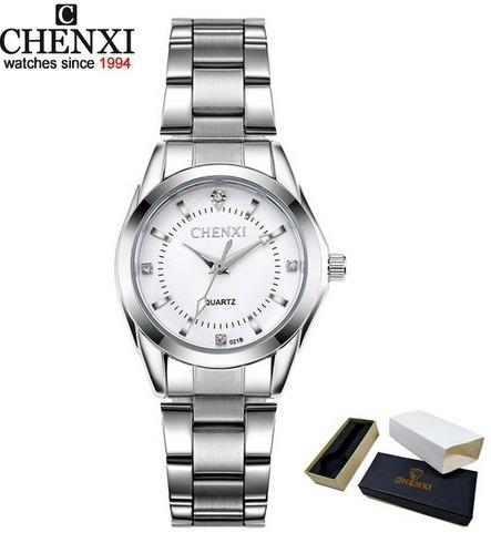Relógio Branco/prata Lindo Básico, Promoção De Natal+frete