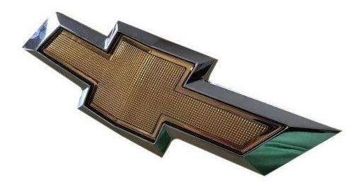 Emblema Da Grade Dianteira Gravata Dourada Agile Montana