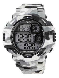 Reloj Digital Q&q Camuflado Sumergible 100mm