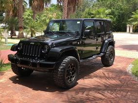 Jeep Wrangler 3.6 Unlimited Sahara 4x4 Ta 2016 Negro