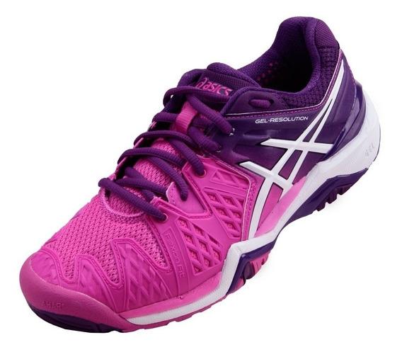 Tênis Asics Gel Resolution 6 - Hot Pink/ White/ Purple