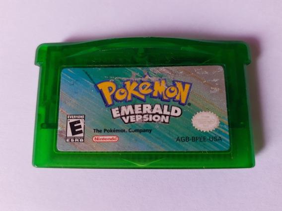 Pokemon Emerald Original Gba Americano! Bateria Nova! Raro!