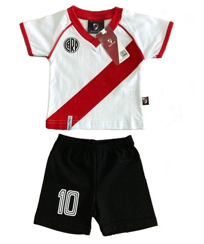 Conjunto Camiseta Retro Bebe River Plate Producto Oficial