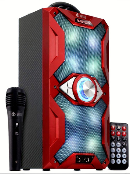 Caixa De Som Portátil Bluetooth Amplificada Microfone Md-884