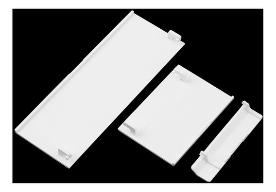 Kit Com As 3 Tampas Para Nintendo Wii Branco