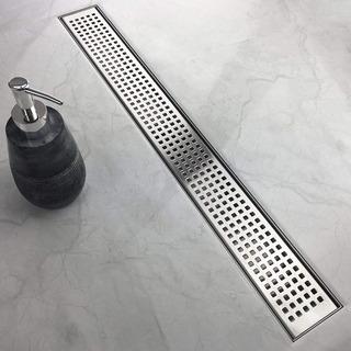 Coladera Lineal Moderna De Reja 80 Cm Acero Inoxidable