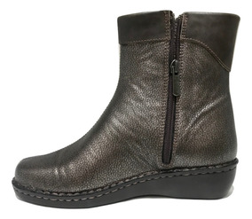 Bota Cavatini Damas Puño Fl. Metalizado Chocolate -52-1583
