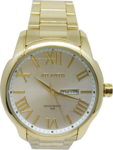 Relógio Atlantis Masculino Calendário