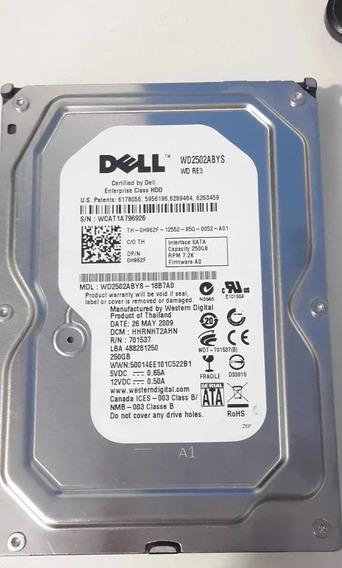Hd Dell 250gb Sata 2 7.2k 3.5 S/gaveta P/n 0h962f Wd2502abys
