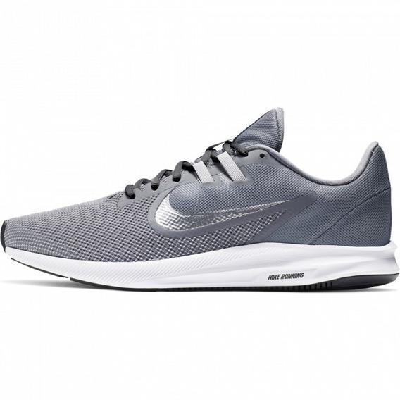 Tenis Nike Downshifter 9 Gris/blanco Aq7481 001