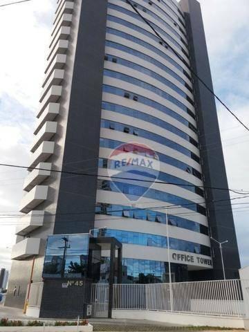 Sala Comercial No Office Tower Center Para Alugar, 22 M² Por R$ 1.100/mês - Candelária - Natal/rn - Sa0022