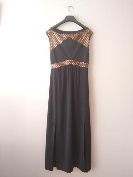 Vestido Negro Fiesta / Talle L / Nuevo