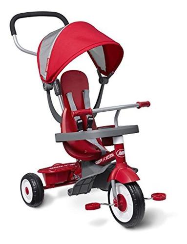 Imagen 1 de 6 de Triciclo 4 En 1, Color Rojo. Marca Pyle