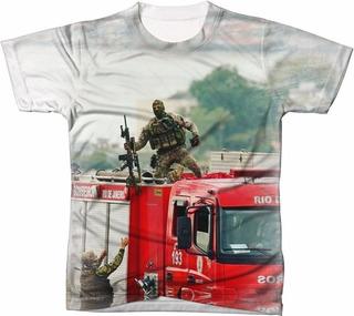Camisa Camiseta Sniper Batalhão De Operações Policiais Especiais Bope Governo Pátria Brasil Rio De Janeiro Bolsonaro 66