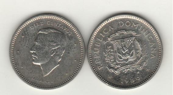 Dominicana Moneda 10 Centavos Año 1986 Km 60 - Sin Circular