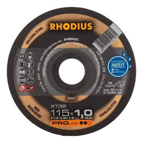 Disco De Corte Metal 4 1/2  115 X 1 Mm Rhodius Alemania