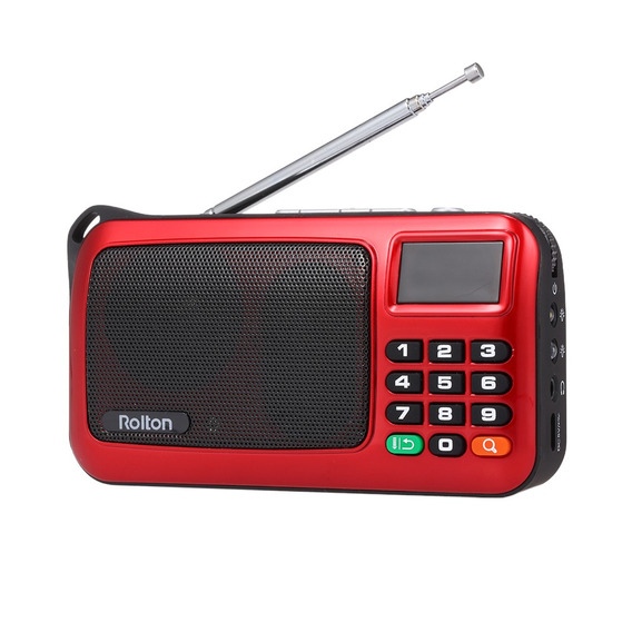 Rolton W405 Fm Rdio Digital Porttil Usb Com Fio Do