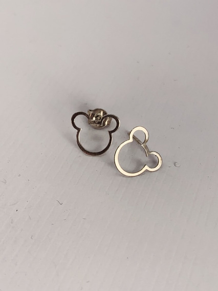 Brinco Feminino Par Mickey Vazado - Em Prata 925