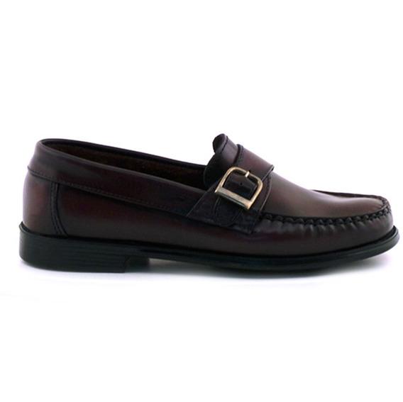 Zapato Hombre Mocasín Cuero Briganti Goma Confort Hcmo00477