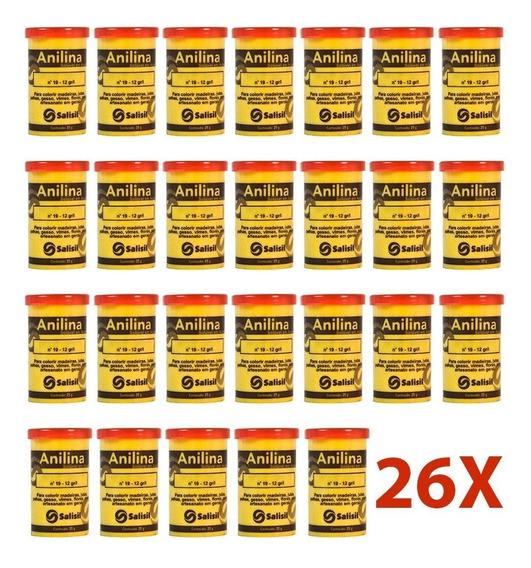 Anilina 25 Gramas Salisil (caixa Com 26 Potes)