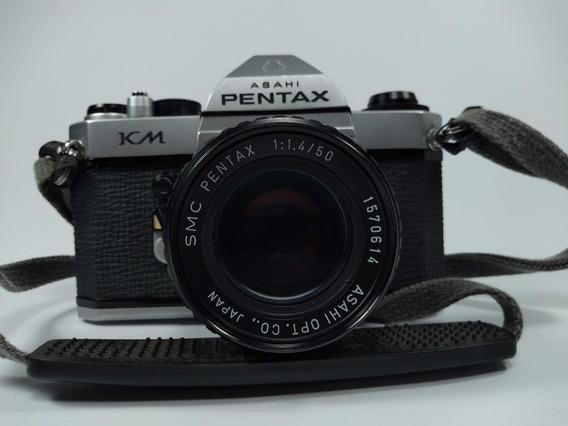 Câmera Fotográfica Analógica Asahi Pentax Km Slr Fotografia