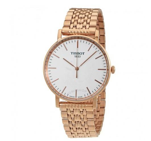 Relógio Tissot Masculino Tclassic Everytime Aço/dourado/rosé