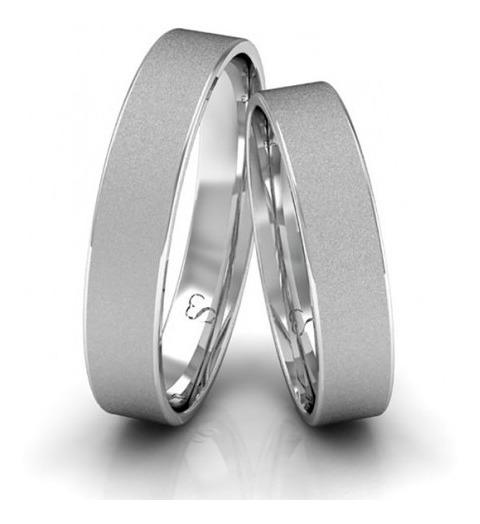Alianças Compromisso Prata Diamantadas 4mm 5 Gramas