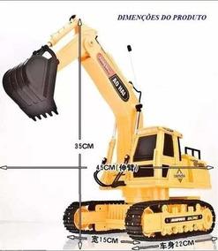 Escavadeira De Controle Remoto Bateria Recarregavel Trator