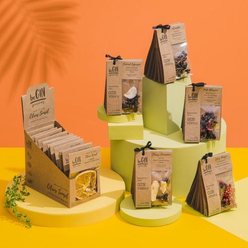 5 Kits P/ Gin (30 Sachês) + Box Citrus Sunset (12 Sachês)