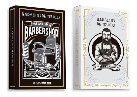 2 Baralhos Truco Barbershop Barbearia Carteado Jogos Cartas