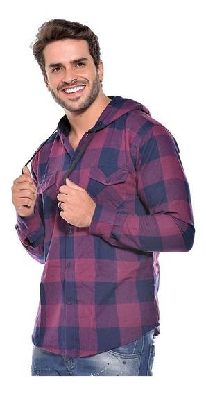Camisa Masculina Flanela Manga Longa Ref 006