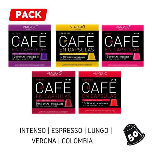 Pack 50 Cápsulas Café Viaggio Espresso Para Nespresso®
