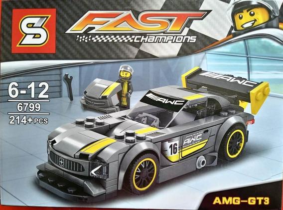 Carro Mercedes Amg-gt3 Compatível Lego Blocos Montar 214pçs