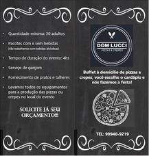 Buffet A Domicilio De Pizza Ou Crepe + Cascata De Chocolate