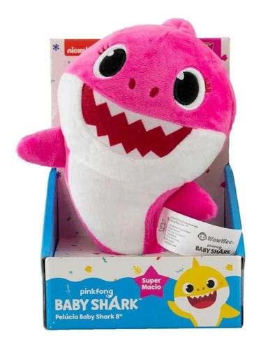 Imagem 1 de 5 de Pelúcia Baby Shark - Rosa Pink 20cm - Bebê Tubarão - Sunny