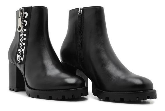 Ankle Boot Schutz Tratorada Logo Black