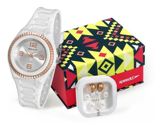 Relógio Speedo Feminino 80609l0evnp2k1 + Fone De Ouvido
