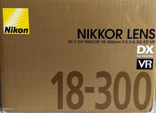 Lente Nikon 18-300mm F 3.5-6.3 G Ed Vr Dx Nikkor Excelente