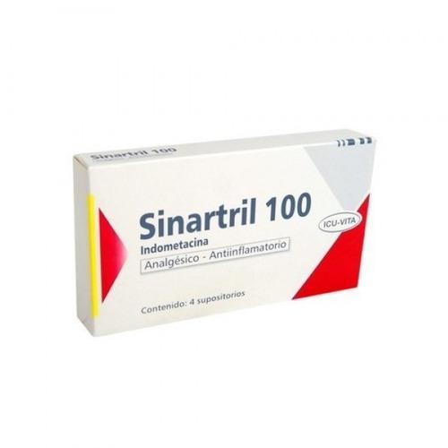 Sinartril Suposit 100 X 4 Sup