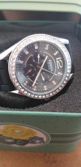 Relógio Fóssil Es2345 Com Brilhantes