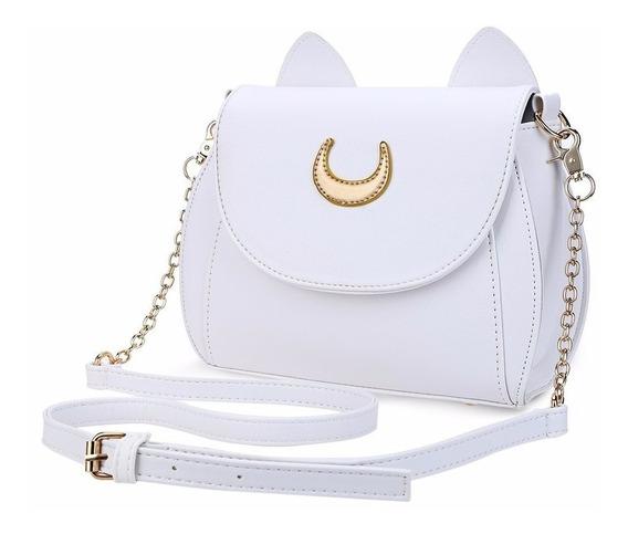Bolsa De Sailor Moon Orejas De Gato Negra Y Blanca Kawaii