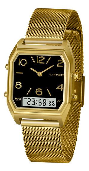Relógio Lince Urban Dourado Anadigi Lagh118lp2kx