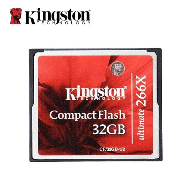 Cartão De Memória Kingston Compactflash 32gb Ultimate 266x