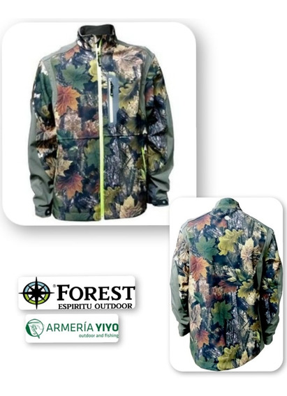 Campera Forest Chalay Camuflado 3d. Talles: S, Xl, Xxl, Xxxl