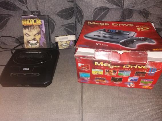 Mega Drive Com Caixa 1 Jogo Sem Cabos