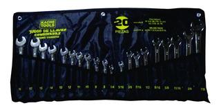 Juego Llaves 20 Pzas Kache Tools, Mm Y Pulg Cromo Vanadio (u